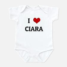 I Love CIARA Infant Bodysuit