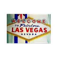 Cute Vegas Rectangle Magnet