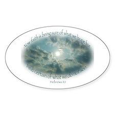 Hebrews 11:1 Faith Oval Decal