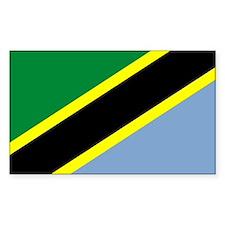 Tanzania Rectangle Sticker 10 pk)