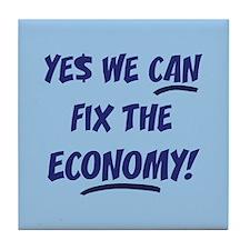 Fix The Economy Obama Tile Coaster