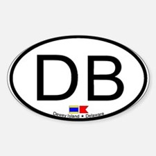 Dewey Beach Oval Decal