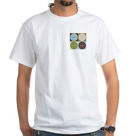 Biomedical Engineering Pop Art White T-Shirt