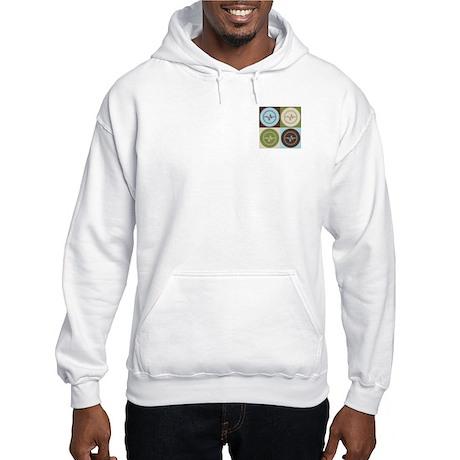 Biomedical Engineering Pop Art Hooded Sweatshirt