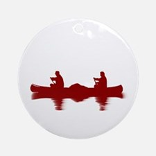 RED CANOE Ornament (Round)