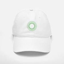 Green Spirograph Baseball Baseball Cap