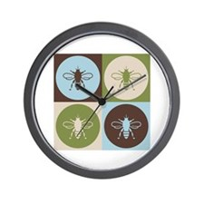 Bee Pop Art Wall Clock