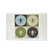 Bee Pop Art Rectangle Magnet