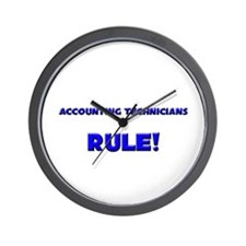 Accounting Technicians Rule! Wall Clock