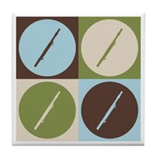 Bassoon Pop Art Tile Coaster