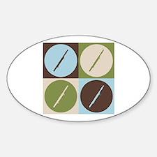 Bassoon Pop Art Oval Sticker (10 pk)