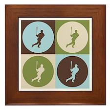 Baseball Pop Art Framed Tile