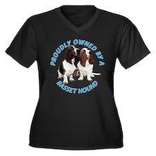 Proudly Owned Basset Hound Women's Plus Size V-Nec