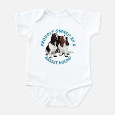 Proudly Owned Basset Hound Infant Bodysuit