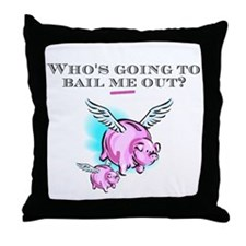 When Pigs Fly Throw Pillow