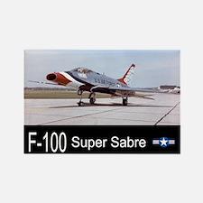 F-100 Super Sabre Fighter Rectangle Magnet