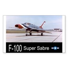 F-100 Super Sabre Fighter Rectangle Decal