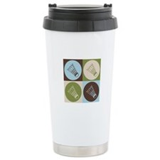 Badminton Pop Art Travel Mug