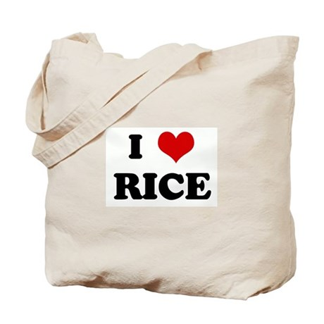 I Love RICE Tote Bag