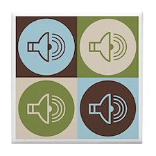 Audiology Pop Art Tile Coaster