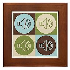 Audiology Pop Art Framed Tile