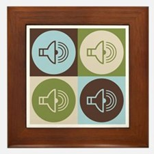 Audiology Pop Art Framed Tile