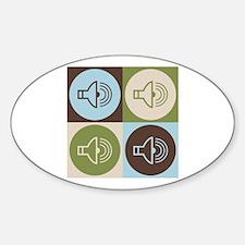 Audiology Pop Art Oval Sticker (10 pk)