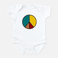 Multicolor Peace Sign Infant Bodysuit