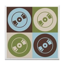 Audio and Video Pop Art Tile Coaster
