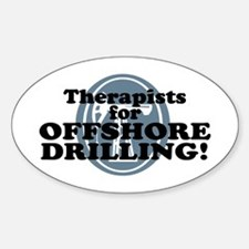 Therapists For Offshore Drilling Oval Decal