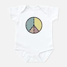 Peace Sign Stripe Infant Bodysuit