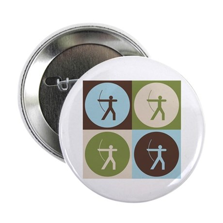 "Archery Pop Art 2.25"" Button (10 pack)"