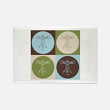 Anthropology Pop Art Rectangle Magnet