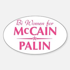 Bi Women for mccain palin Oval Decal