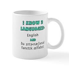 I KNOW 2 LANGUAGES Small Mug