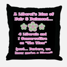 Flower Power! The View Throw Pillow
