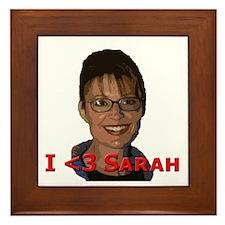 I less than 3 Sarah Framed Tile