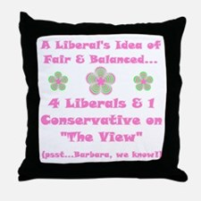 The View... Throw Pillow