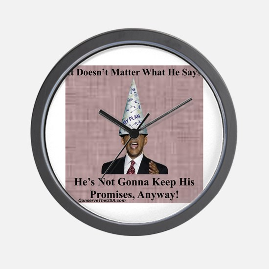 """Not A Promise Keeper"" Wall Clock"