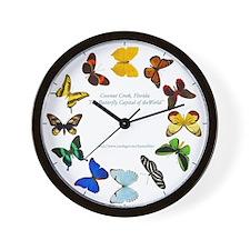 Unique Butterflies Wall Clock