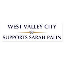 WEST VALLEY CITY supports Sar Bumper Bumper Sticker