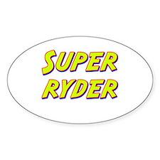 Super ryder Oval Decal