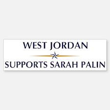 WEST JORDAN supports Sarah Pa Bumper Bumper Bumper Sticker