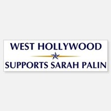 WEST HOLLYWOOD supports Sarah Bumper Bumper Bumper Sticker