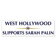 WEST HOLLYWOOD supports Sarah Bumper Bumper Sticker
