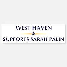 WEST HAVEN supports Sarah Pal Bumper Bumper Bumper Sticker