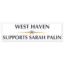 WEST HAVEN supports Sarah Pal Bumper Bumper Sticker