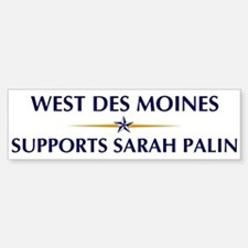 WEST DES MOINES supports Sara Bumper Bumper Bumper Sticker