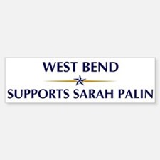 WEST BEND supports Sarah Pali Bumper Bumper Bumper Sticker