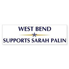 WEST BEND supports Sarah Pali Bumper Bumper Sticker
